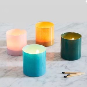 Colored Glass Votives from West Elm